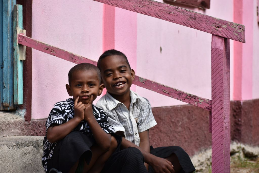 soso village 2 boys smiles