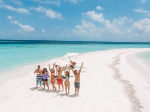 Maldives Excursion with new friends JPG