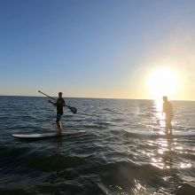Paddle Boarding Sunset Rota, Spain