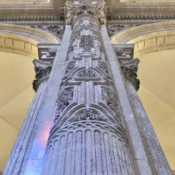 Iglesia Del Salvador Interior Column Details