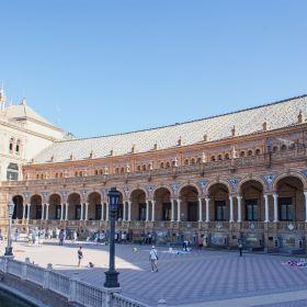 Plaza De Espana Spain Square with 48 pavilions