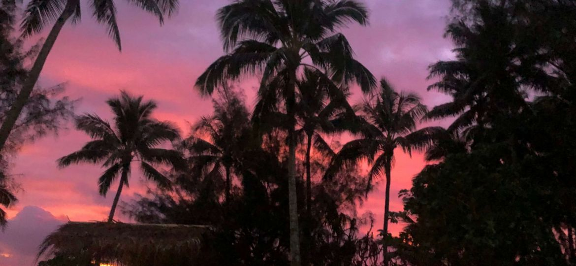 Sunset in Rarotonga, Cook Islands!
