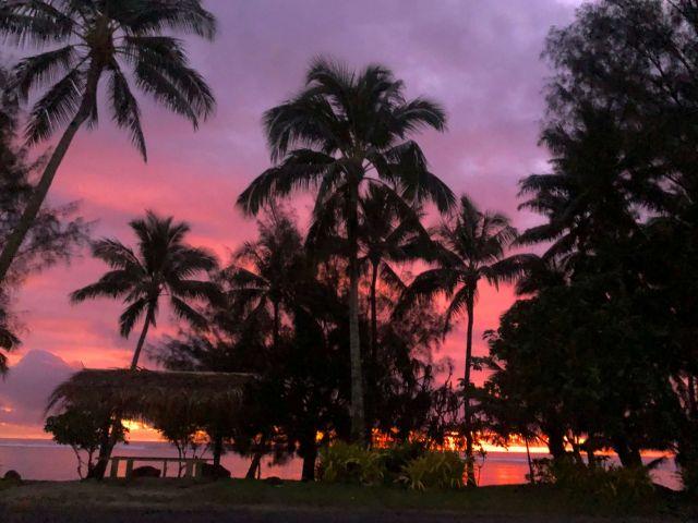 Sunset in Rarotonga, Cook Islands!